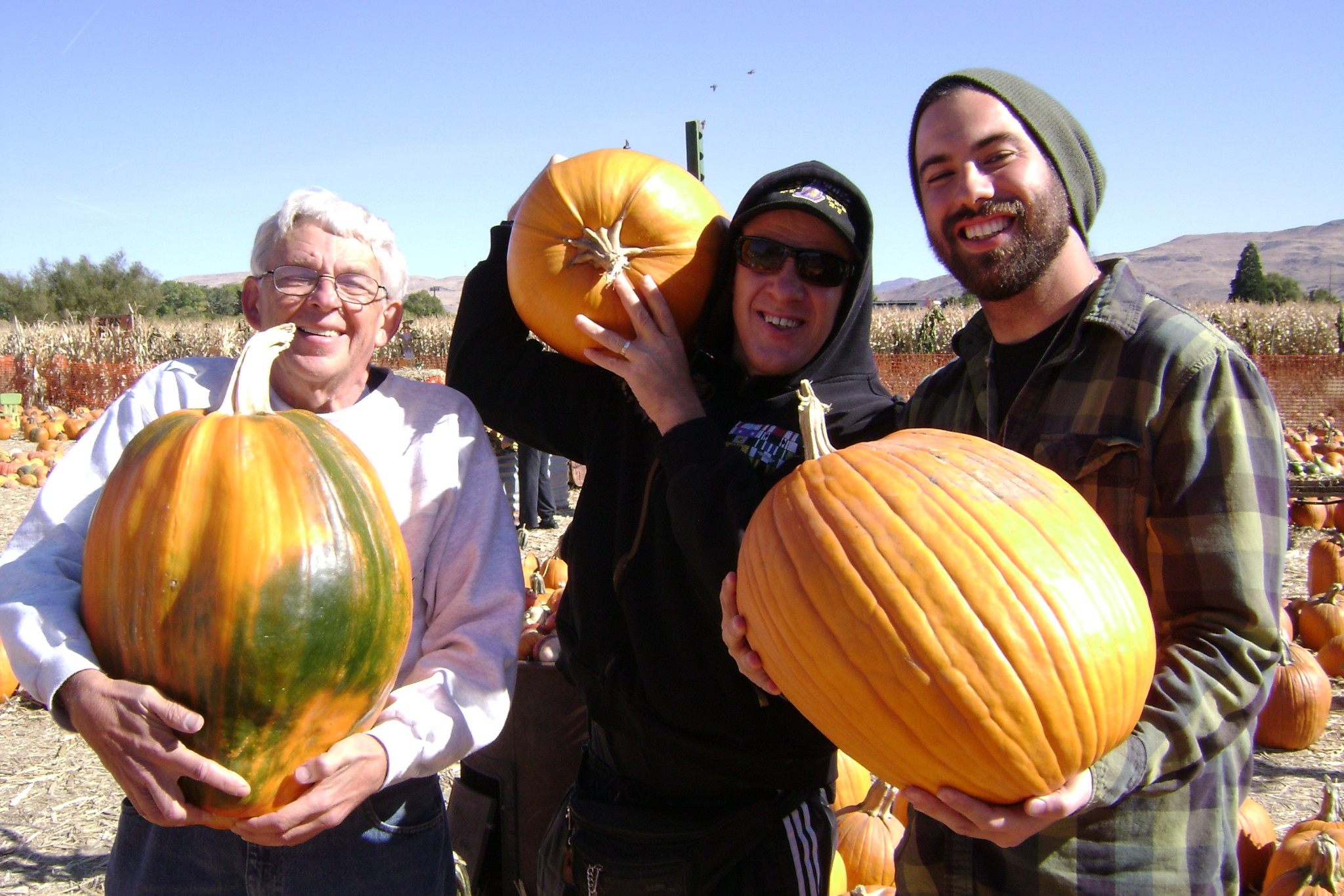 Jack Lee and Brandon with Pumpkins